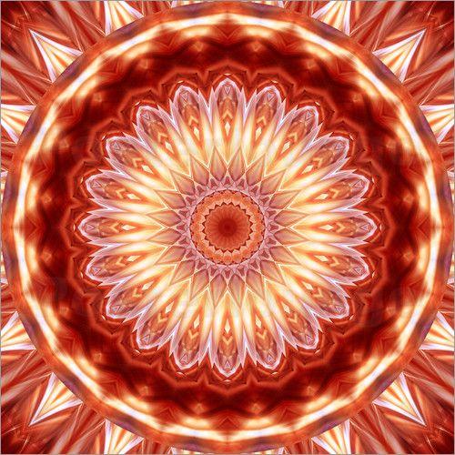 Christine Bässler - #Mandala orangerot Nr. 2 #energy #energie
