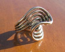 Vintage Sterling Silver Navajo Mod Swirl Ring from WhimsicalVintage on Ruby Lane