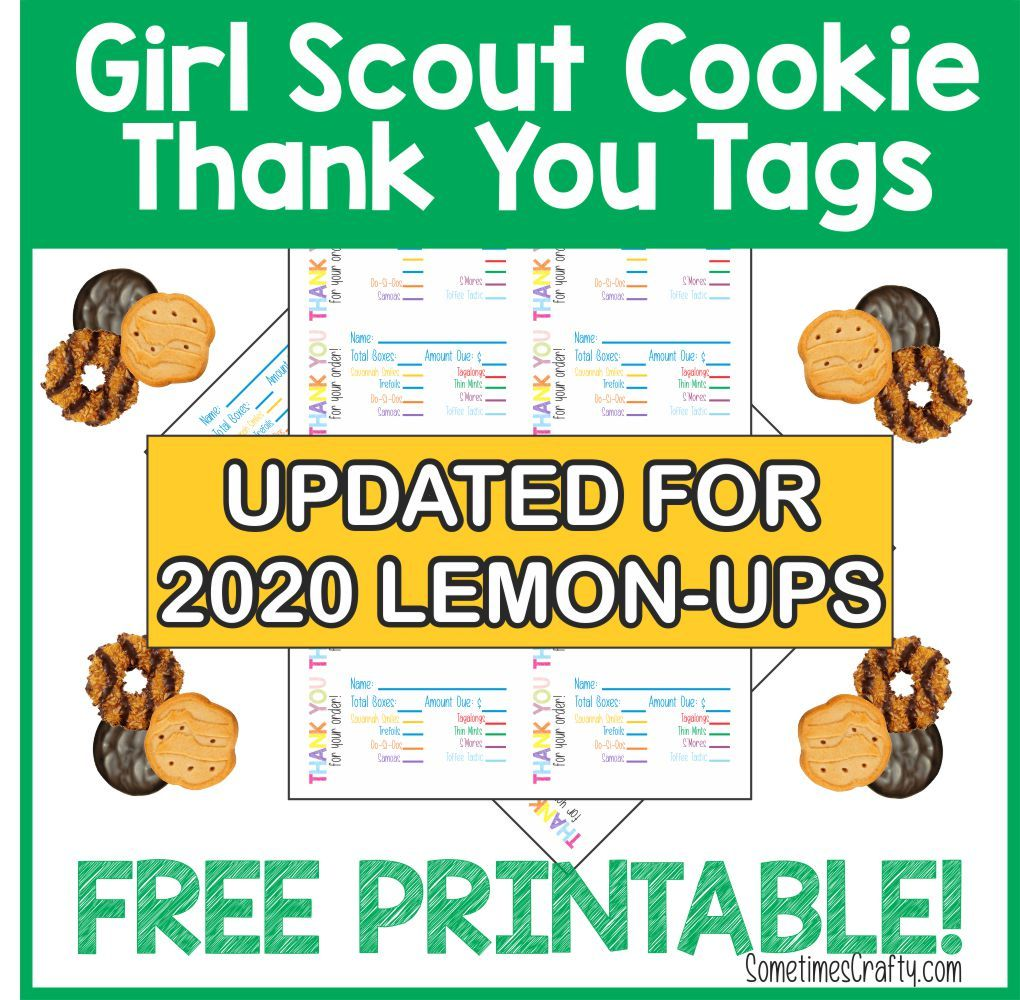 Girl scout cookie thank you tags free printable girl