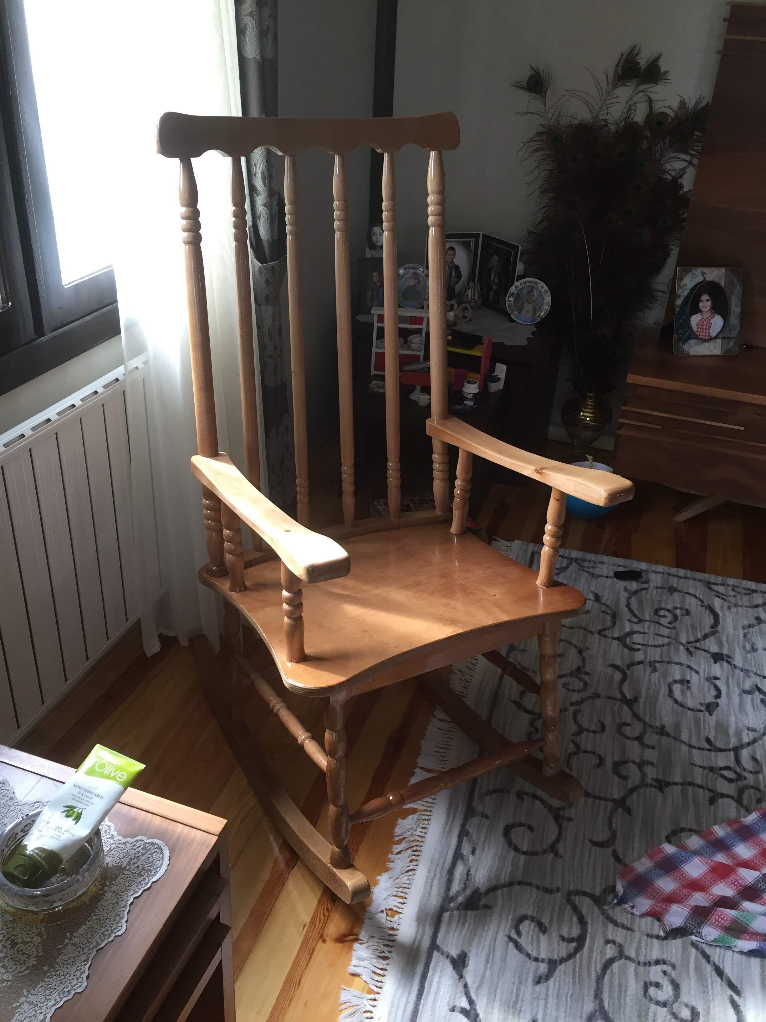 Ahsap El Yapimi Sallanan Sandalye Imalati Sandalye Mobilya Mobilya Tasarimi