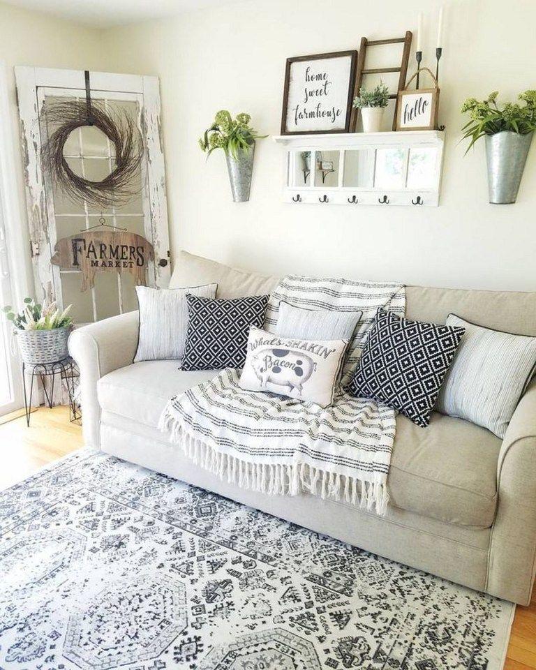 30 Cozy Farmhouse Living Room Decor And Design Ideas 43 Above Couch Decor Couch Decor Couches Living Room