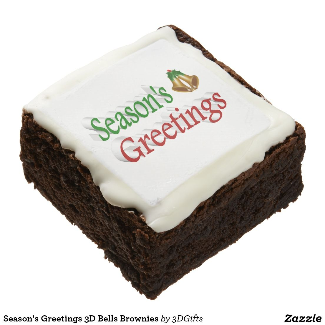 Season's Greetings 3D Bells Brownies
