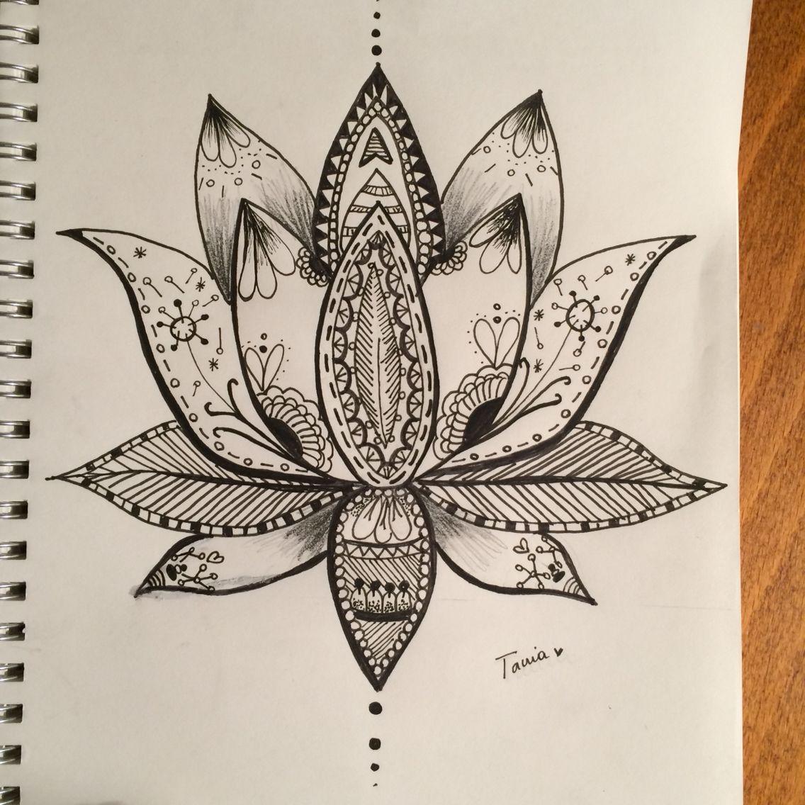 Flor De Loto Tania Galvez Sacred Geometry Tattoo Lotus Flower Tattoo Geometry Tattoo
