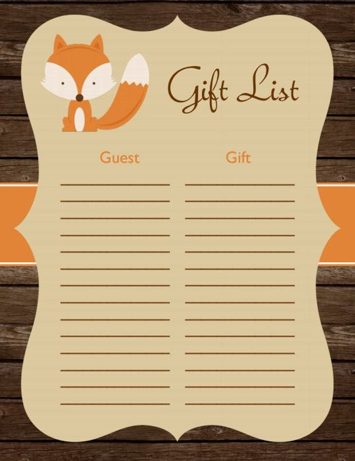 d14d7dfc919f4 Woodland Baby Shower Fox Birthday Party Instant Download Woodland ...