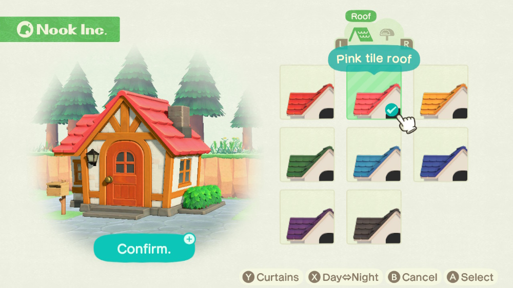 Animal Crossing New Horizons Roof Colours How To Customise Your Home Gamesradar In 2020 Roof Colors Animal Crossing Aqua Tiles