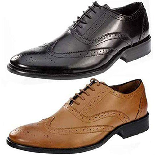 Mens Pierre Cardin Leather Shoes Italian Formal Office Brogue Smart Wedding Clic Vintage Brogues Size