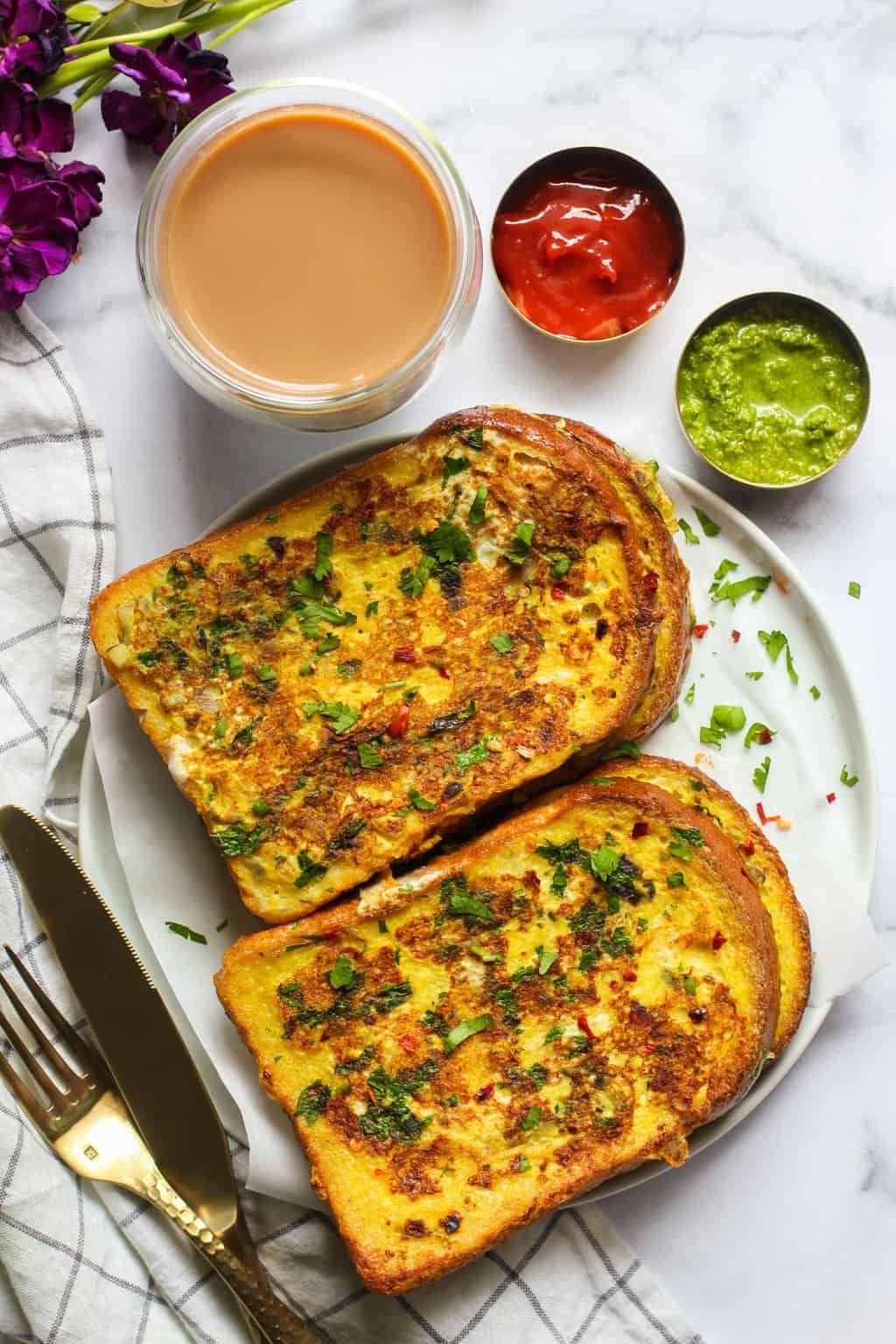 Savory Masala French Toast with Turmeric & Chili