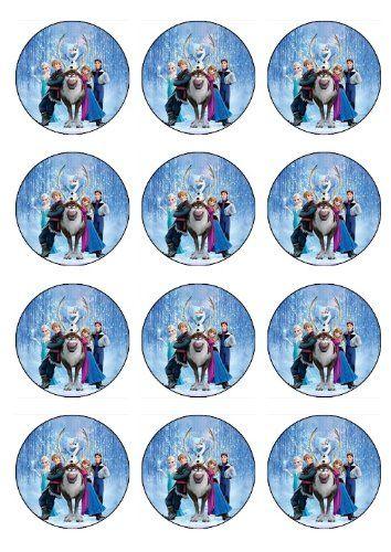 Disney Frozen Birthday Party Ideas 12 EDIBLE Disney Frozen Cupcake