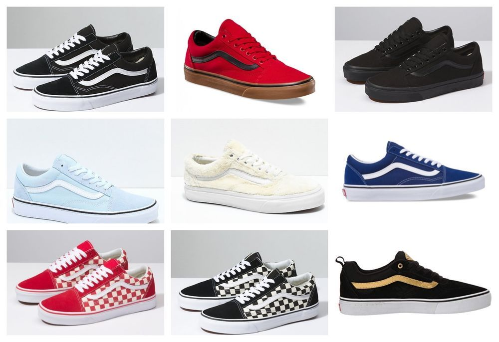 a153f05df5c13f New Vans Womens Old Skool Lace Up Red Blue Pink Suede Leather Shoes 5.5 -  12.5  VANS  Comfort