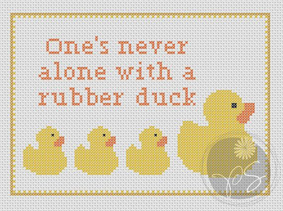 Hitchhiker\u0027s Guide to the Galaxy quote - Rubber Duck (Printable PDF