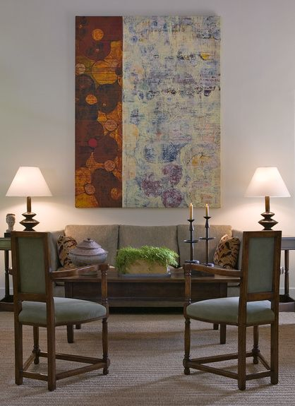 Ann James - Interior Designer - Santa Barbara - Mediterranean - Living Room  - Art -