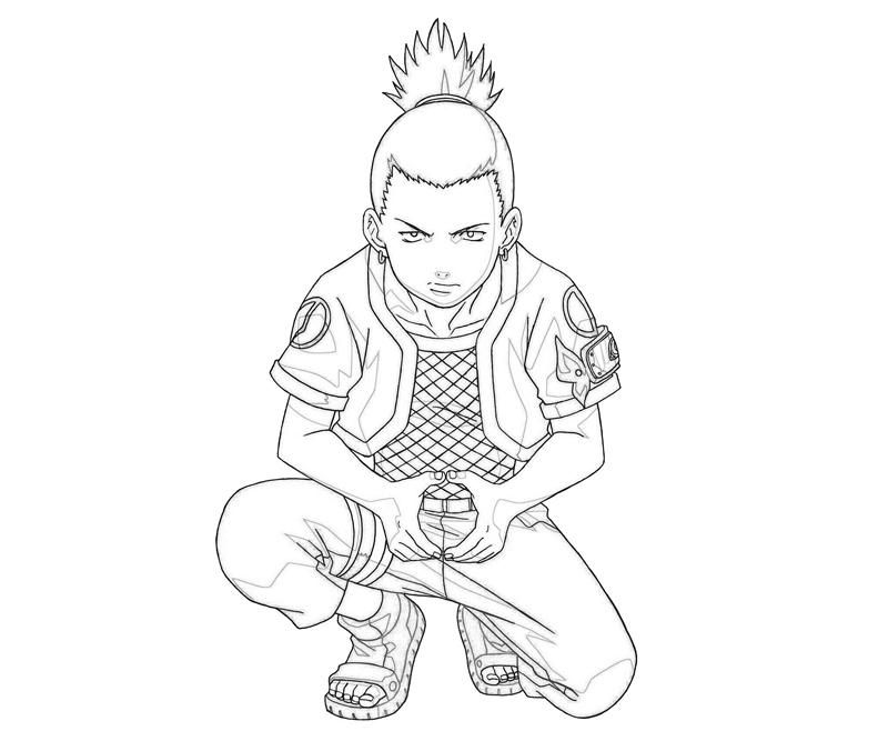 Shikamaru Was Thinking Coloring Pages For Kids Printable Naruto
