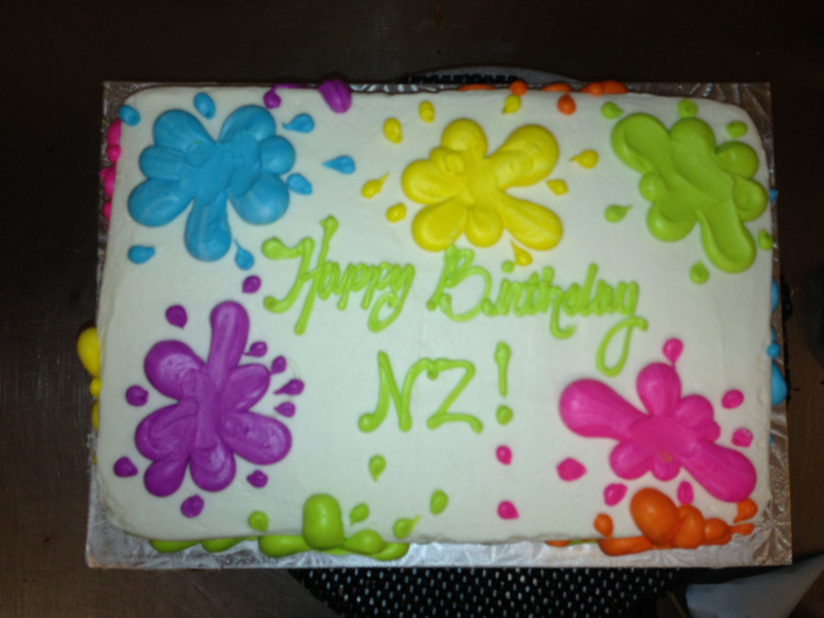 Paint Splatter Cake Decorating