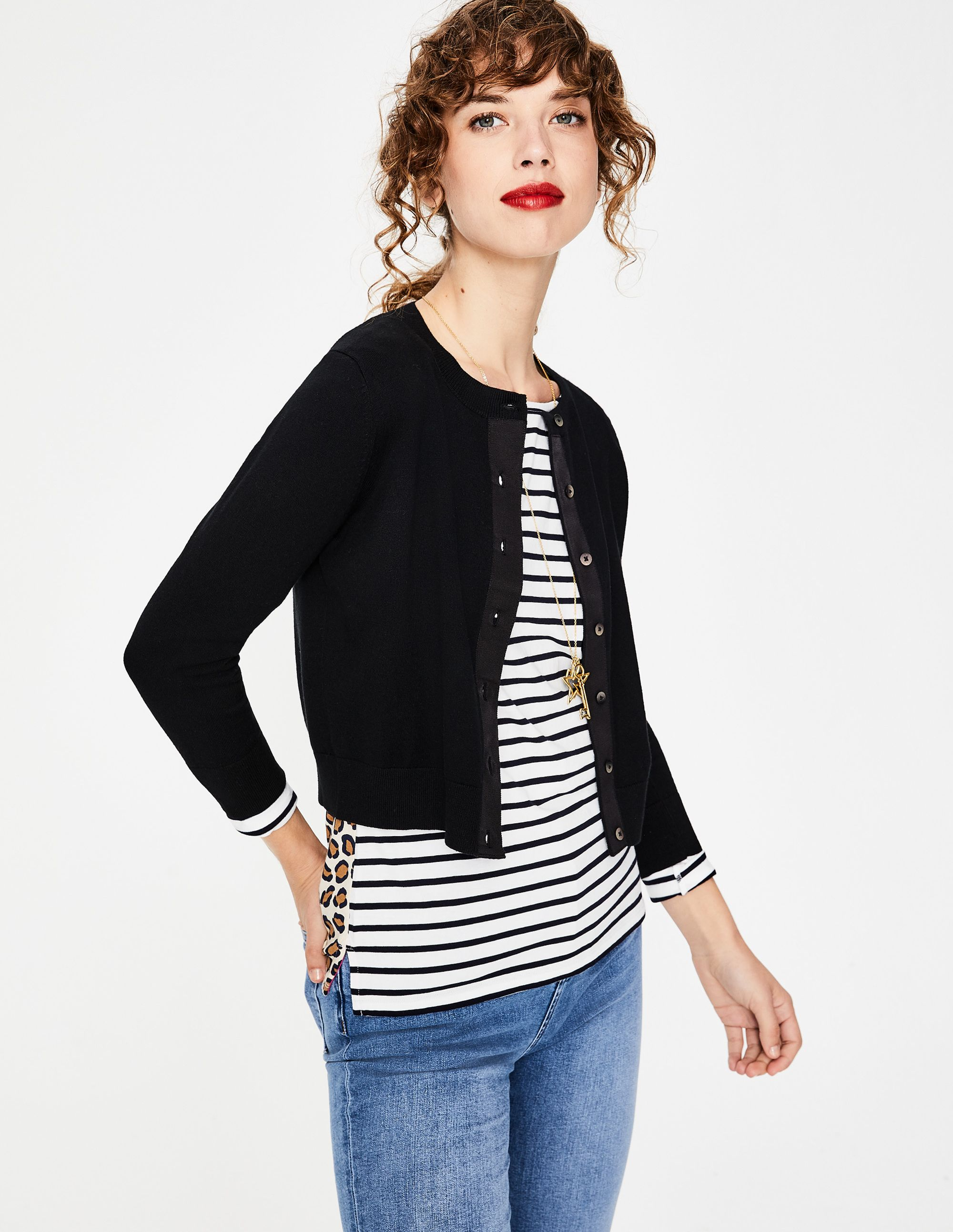 Amelia Crop Cardigan K0104 Knitted Cardigans at Boden (With