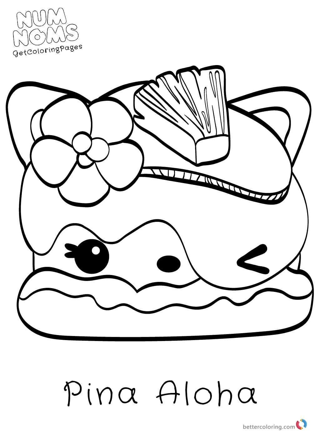 10 Coloring Page Num Noms Cute Coloring Pages Cool Coloring Pages Coloring Books