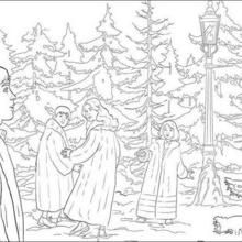 Lucy And Tumnus Chronicles Of Narnia Coloring Pages Witch Coloring Pages Coloring Pictures Zoo Coloring Pages