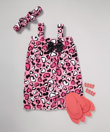 Take a look at this Pink Cheetah Heart Spa Set - Girls on zulily today! Zulily.com always has the cutest stuff!