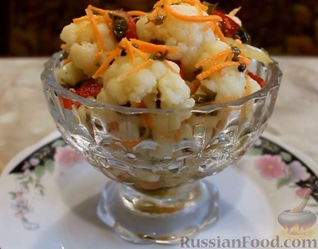 рецепт маринования цветной капусты по-корейски