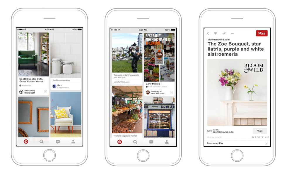 Pinterest open for business as it launches advertising in