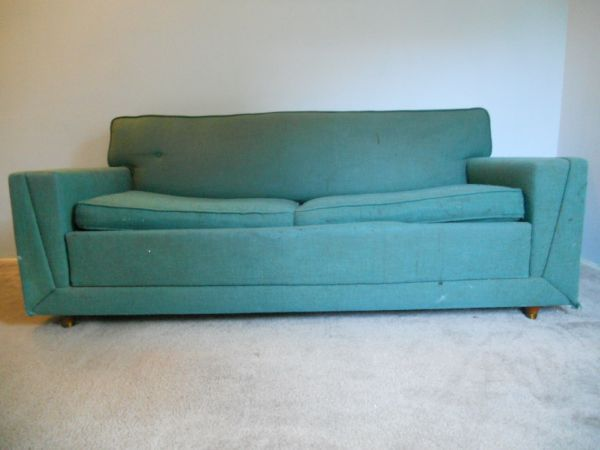 Aqua Vintage Couch Sofa Bed Mid Century Couch La Craigslist