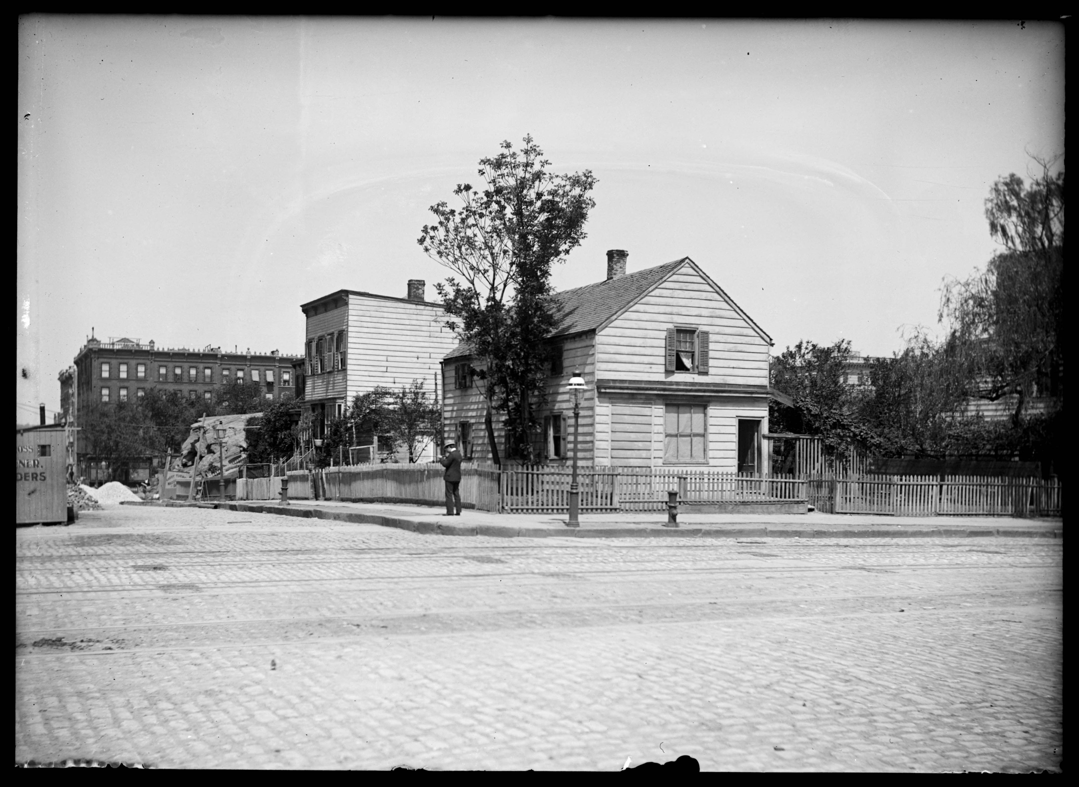 Old Wooden Houses At Amsterdam Avenue And W 92nd Street New York