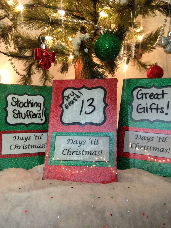 Super Fun Dry Erase Christmas Countdown!  Available in Red and Green.  $20, and free shipping within the U.S.!