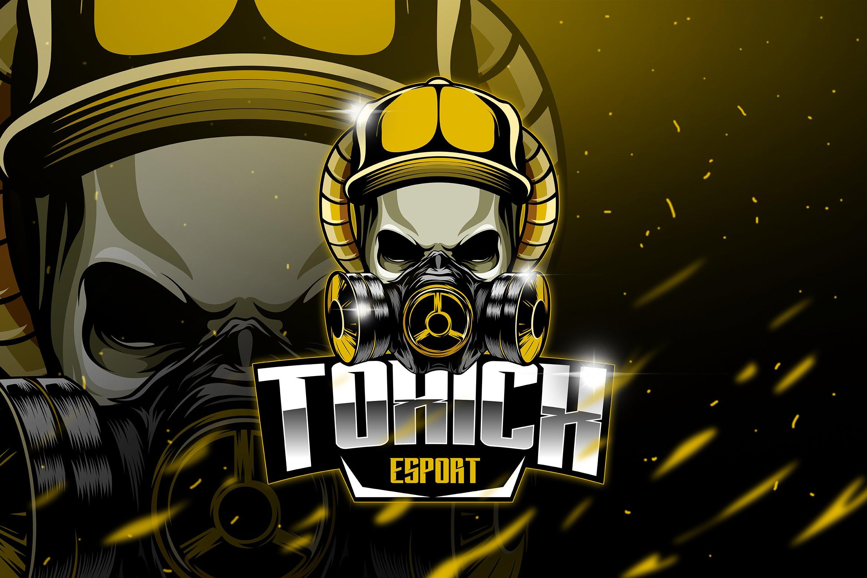 Toxic Mascot & Esport Logo Mascot, Game logo design