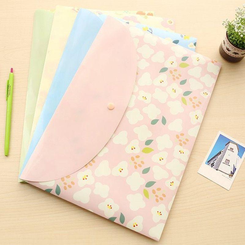 `Kawaii Korean Stationery Folder File Document A4 Case Folder Bag Paper Envelope