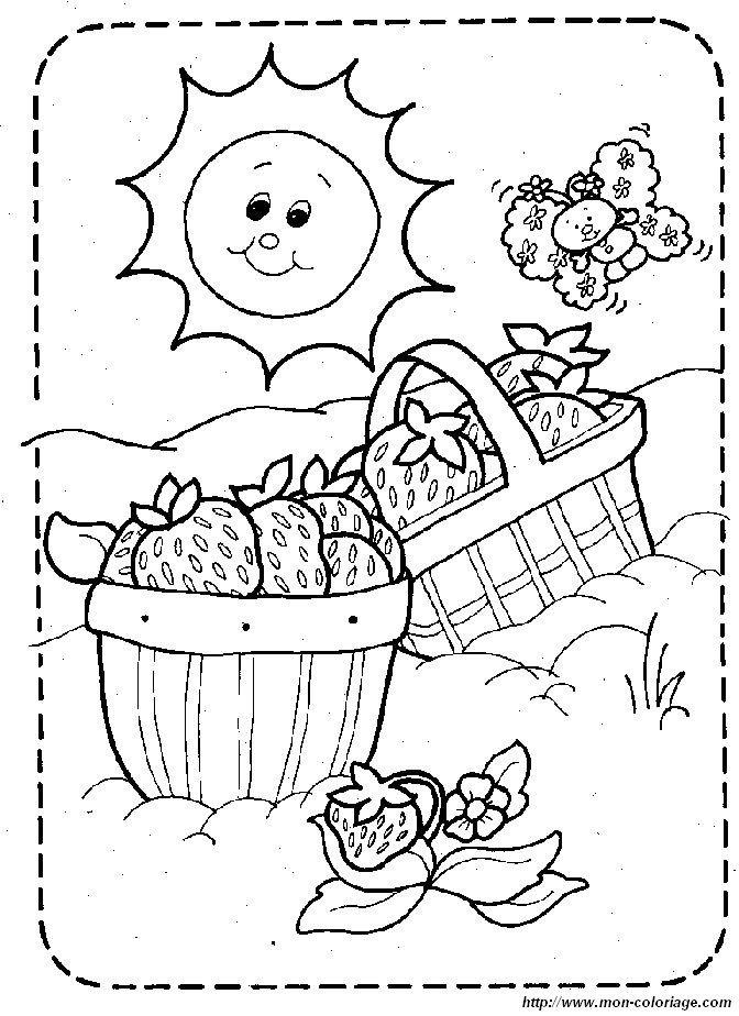 picture strawberry garden | STITCHING: Baby Quilt Blocks | Pinterest ...