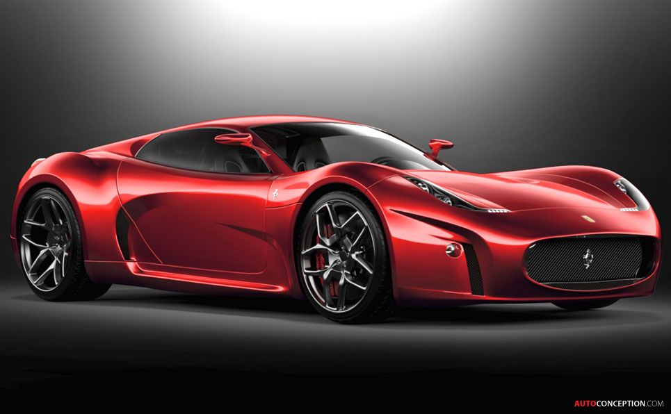 Ferrari Gt Concept By Serafinistile Autoconception Com Ferrari Car Street Racing Cars