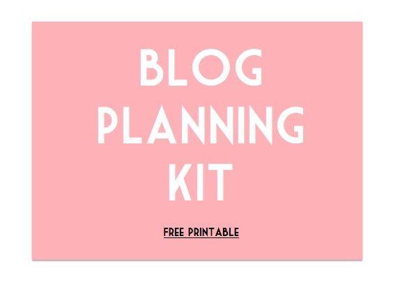 Free Blog Planning Kit Printable by http://sarahhsoda.wordpress.com