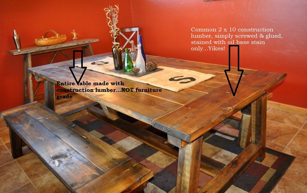 This Entire Table Is Made With Common Building Lumber One Would