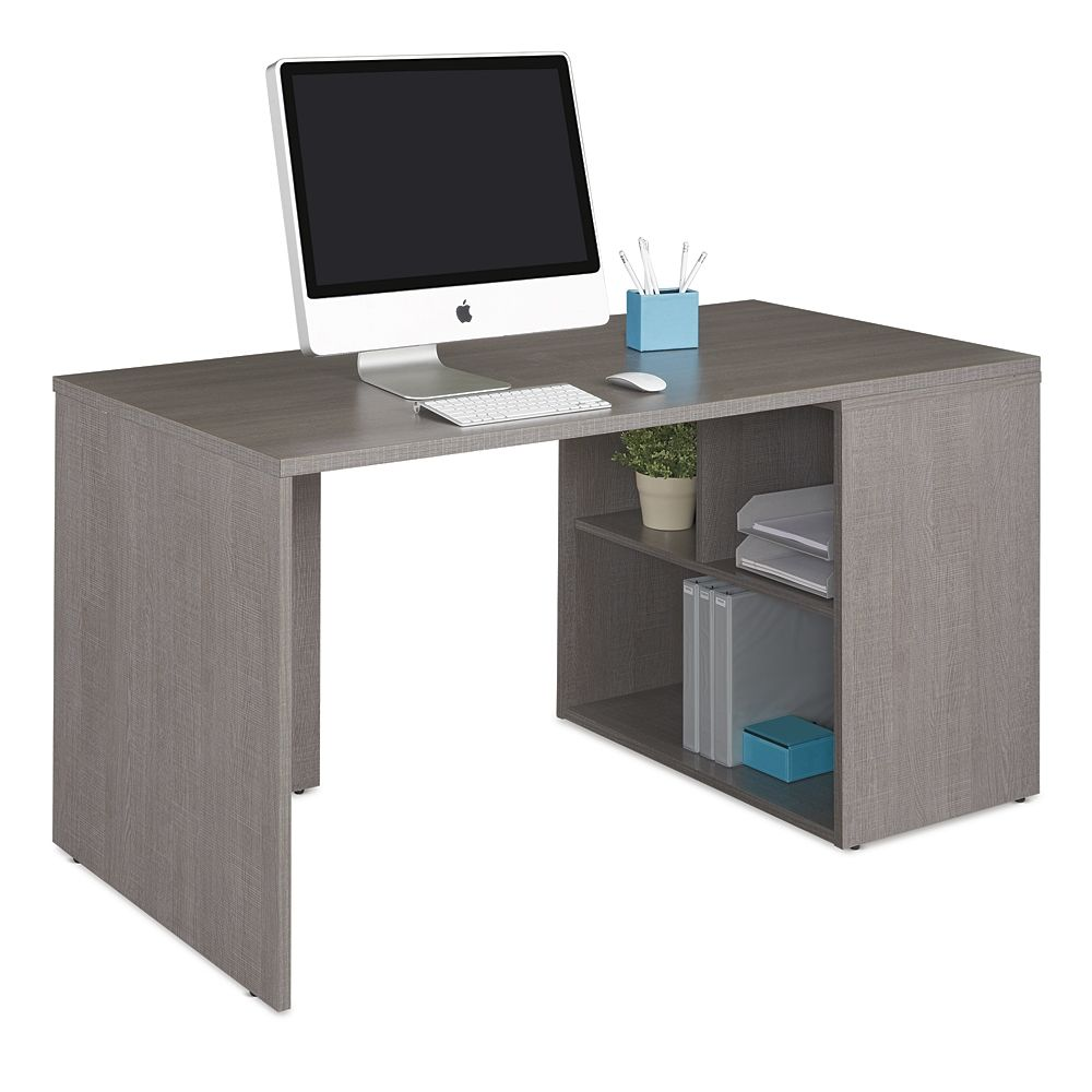 Boardwalk Compact Desk With Storage Compact Desks Desk Storage Desk