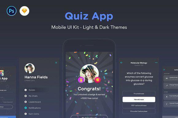Quiz App - Mobile Trivia Game UI Kit @creativework247 | Web
