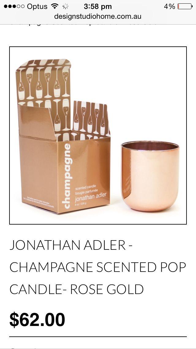 Jonathon Adler champagne Candle