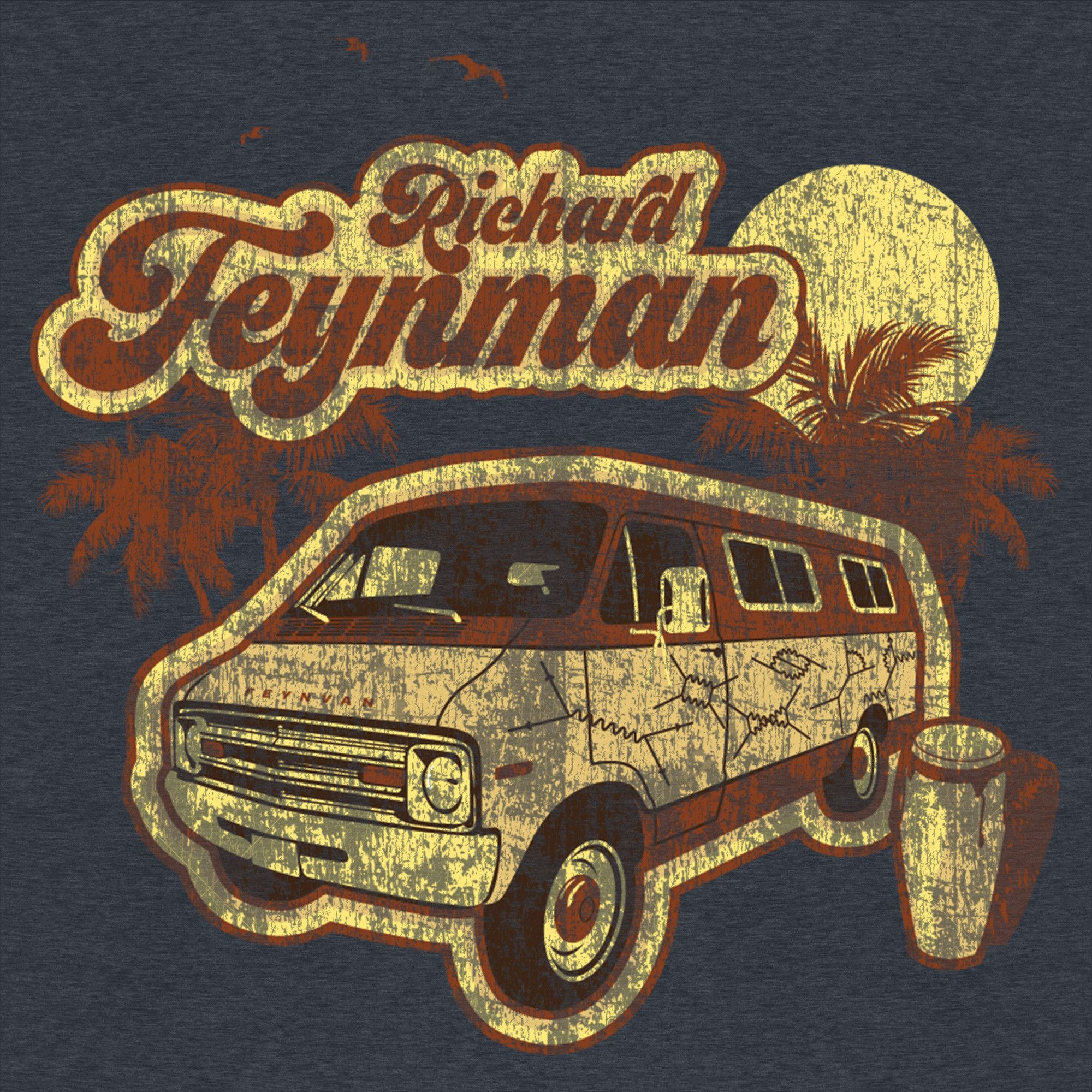 This great vintage t-shirt pays homage to the renaissance man Richard Feynman.  He a passion and curiosity for life and science lead him to be a scientist, teacher, raconteur, musician and more. Our tee shows Richard Feynman's Van-famous for its painted design.  #UnderRepped #TShirt #scienc