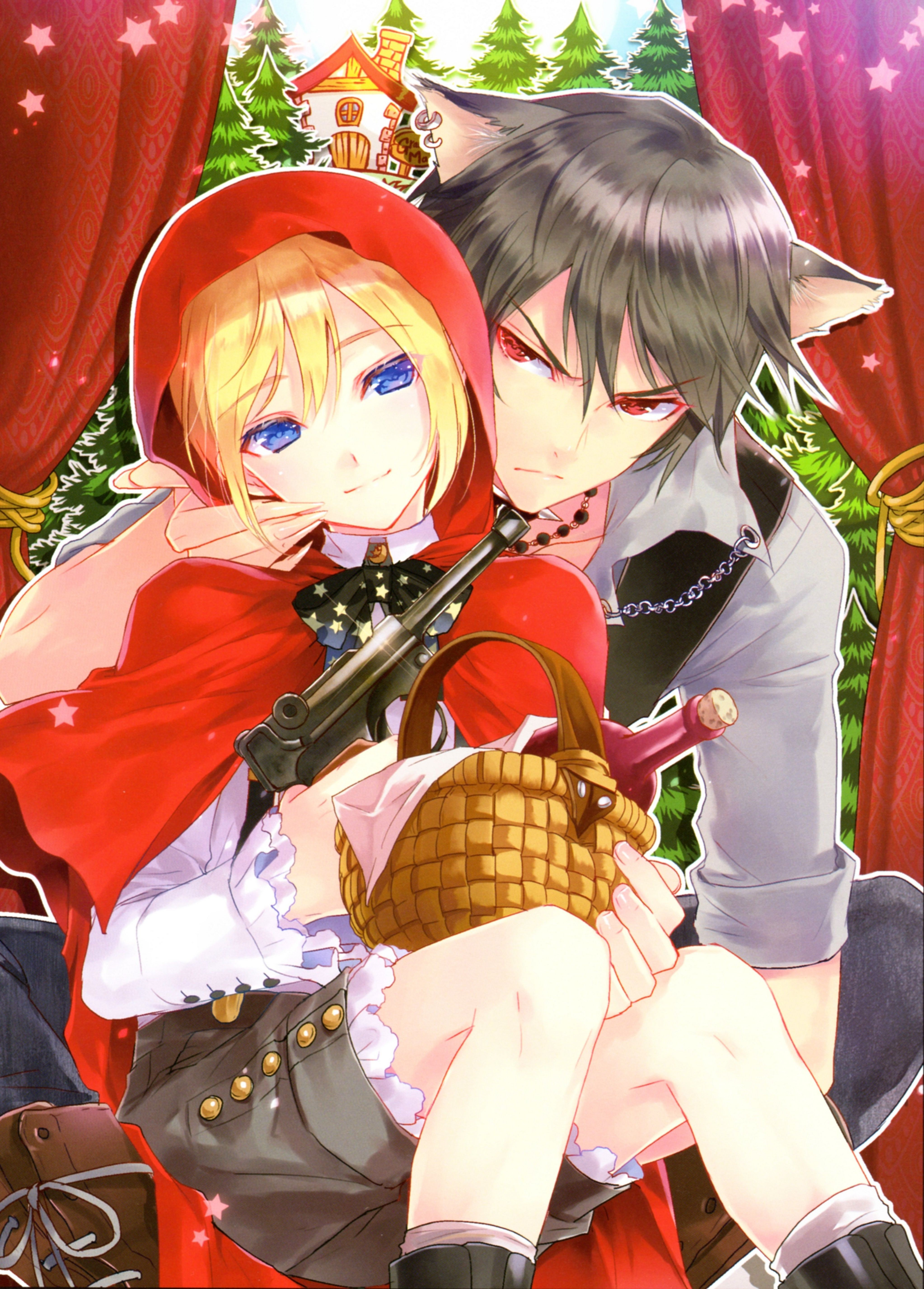 pinterest big bad wolf and little red anime red