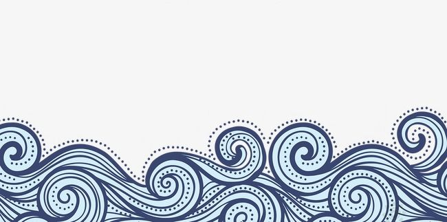 China Wind Blue Wavy Lines Texture Border Chinese Style Flat Painted Png And Vector With Transparent Background For Free Download Line Texture Clip Art Borders Borders For Paper