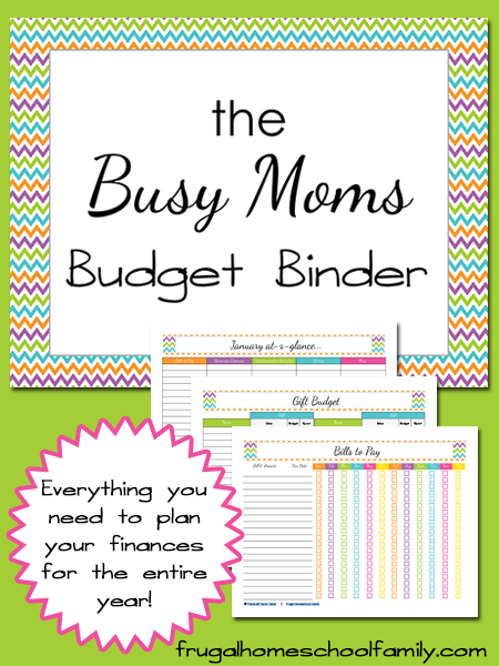 Free Printable Busy Mom S Budget Binder Do It Yourself Pinterest