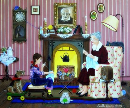 Knitting with Grandma by Maria Laura Bratoz (304 pieces)