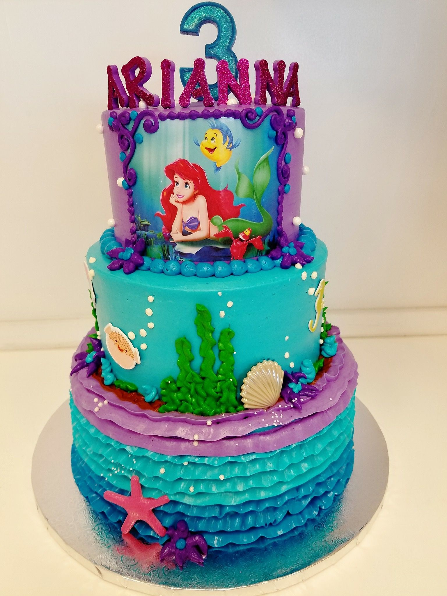Little Mermaid Cake With Images Mermaid Birthday Cakes Little