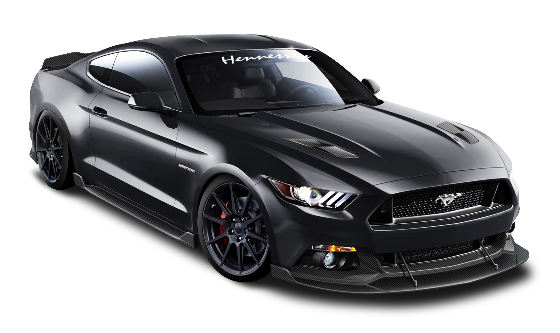Ford Mustang Hennessey Black Car Png Image Ford Mustang Black Camaro Black Honda