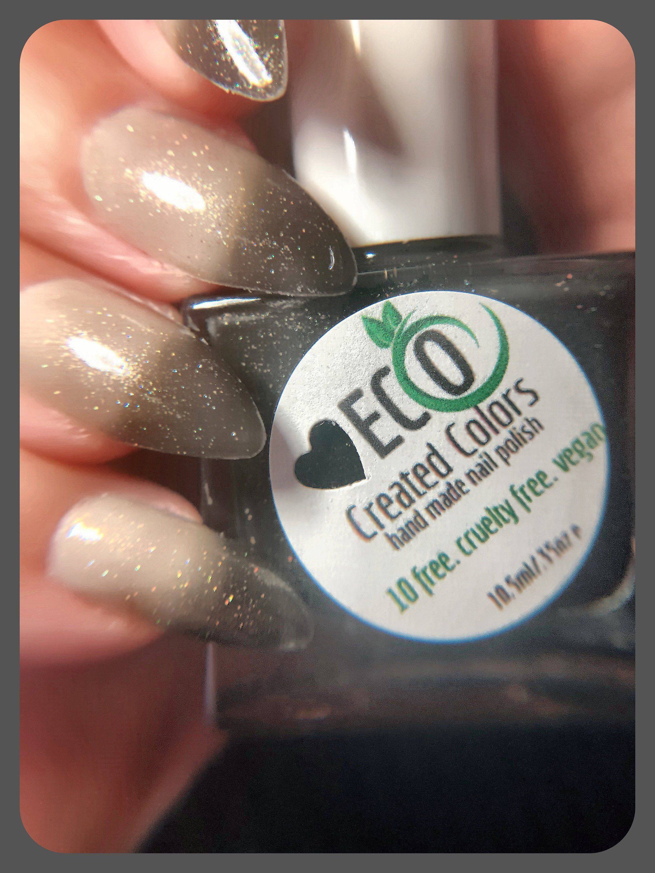 Black Glitter Thermal Color Changing Nail Polish Black To Etsy Nail Polish Vegan Nail Polish Color Change Nail Polish