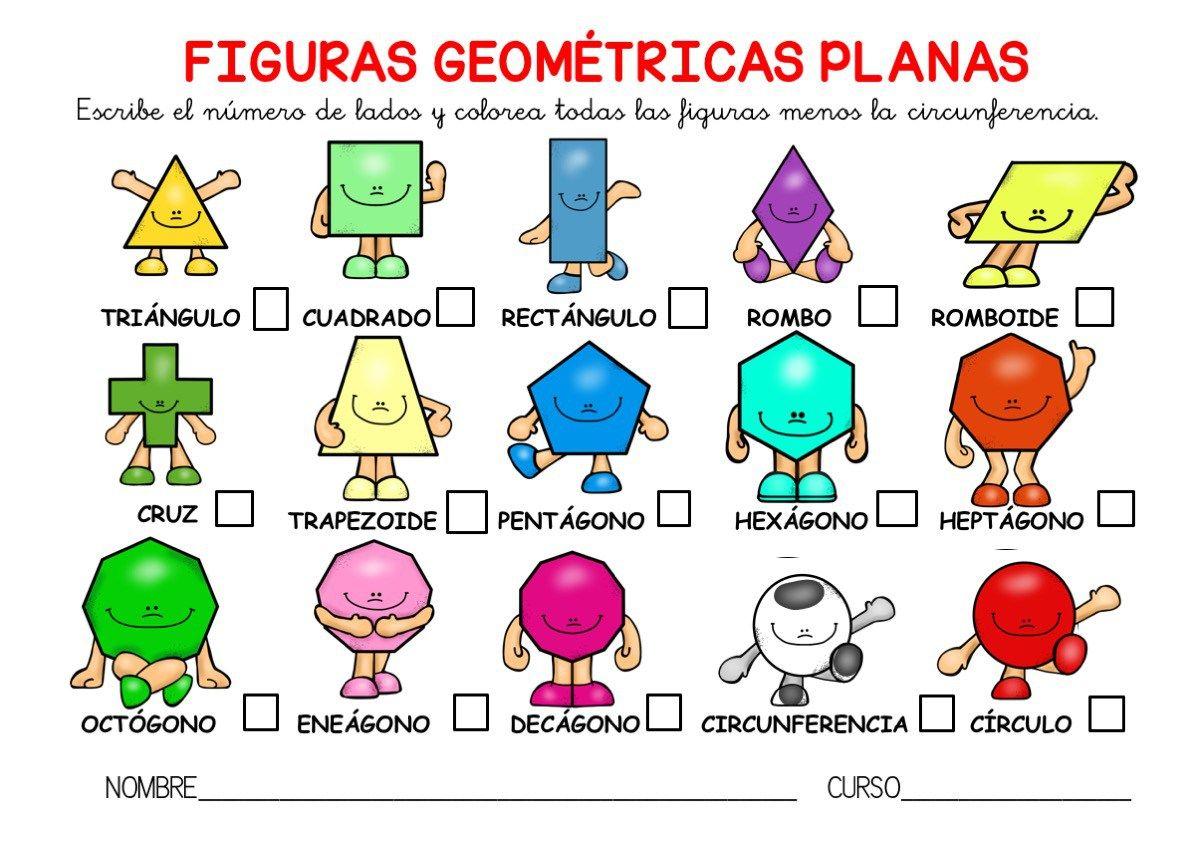 Poster A3 Y Actividades Para Trabajar Las Figuras Geométricas Planas