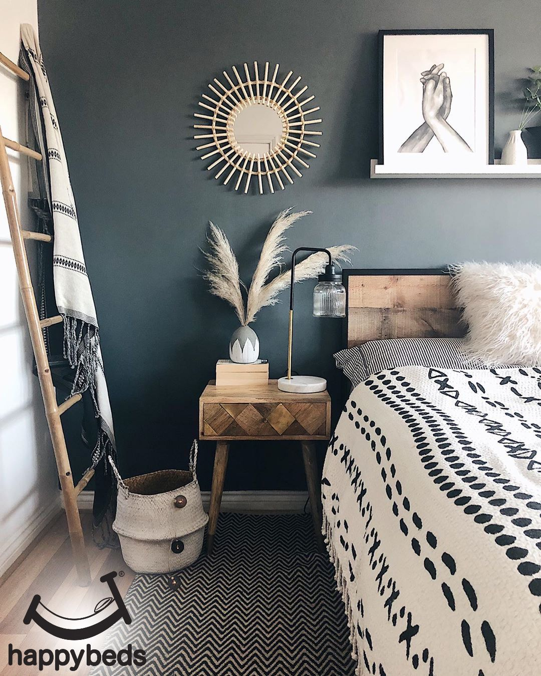 Photo of Urban Rustic Wooden and Metal Bed