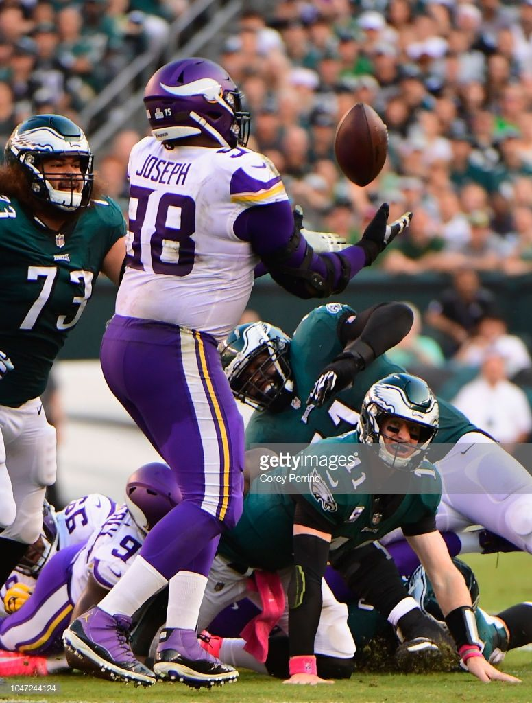 Defensive tackle Linval Joseph of the Minnesota Vikings