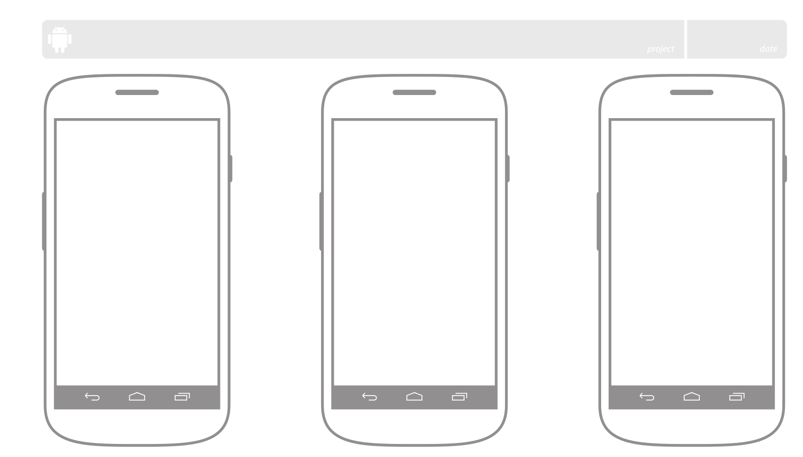 Android UI Patterns: UI Sketching On Paper - Templates