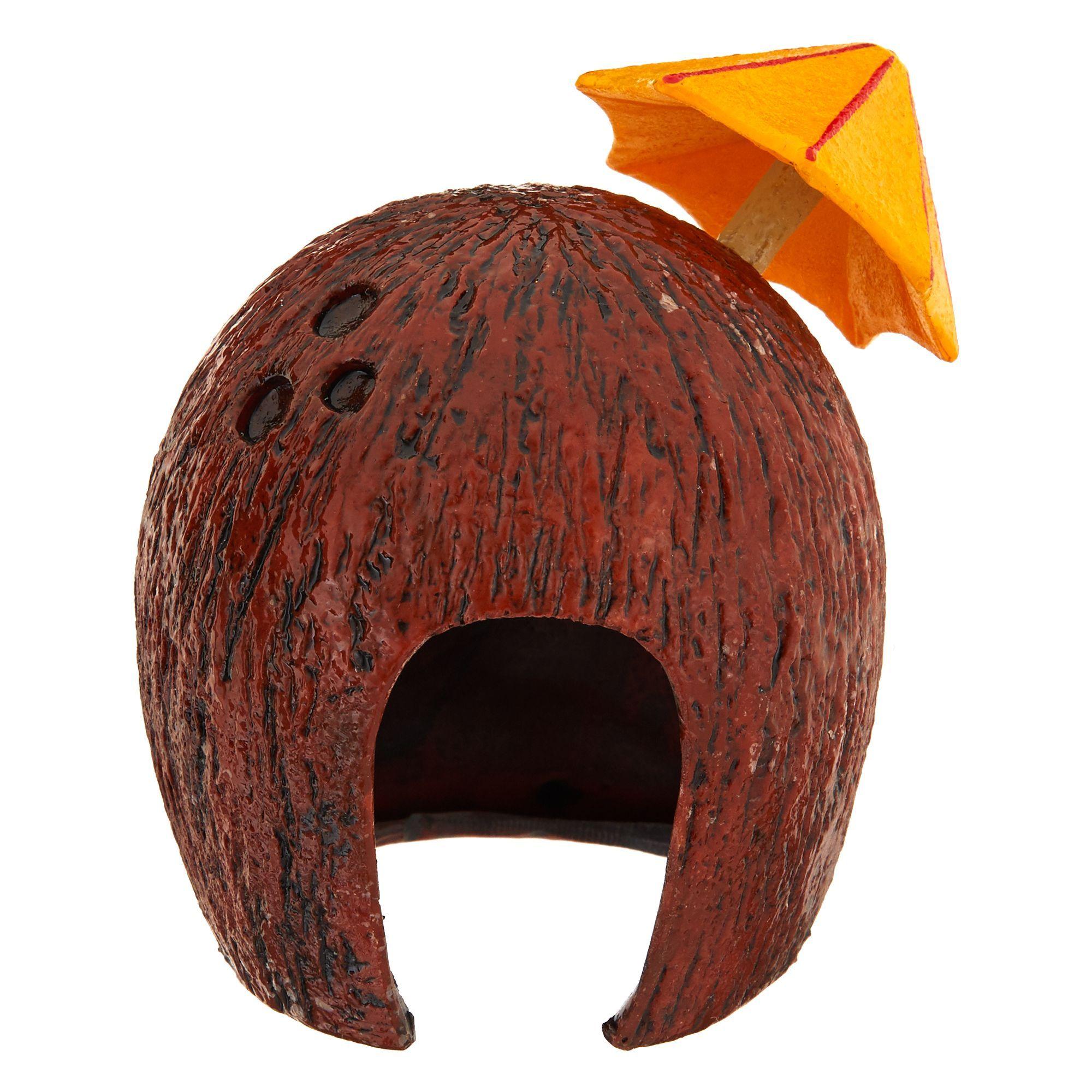 Top Fin Coconut Cavern Aquarium Ornament, Brown in 2020