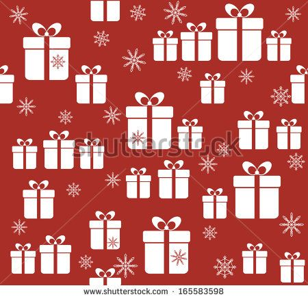 Christmas background with gift boxes and snowflakes