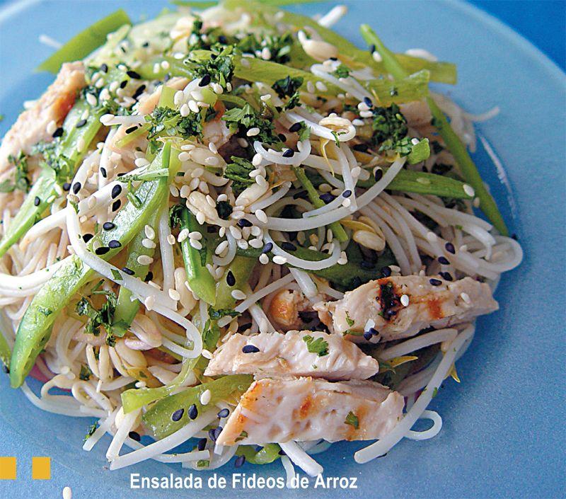 Ensalada de fideos de arroz recetas para cocinar for Cocinar fideos de arroz